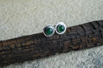 Drobiazgi z pracowni elfów – srebrne kolczyki z awenturynem