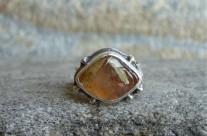 Cul – srebrny pierścionek z kwarcem rutylowym
