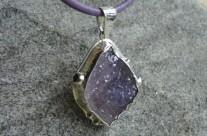 Klejnoty Morii – srebrny wisior z naturalnym ametystem