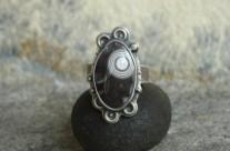 Sferos – srebrny pierścionek ze sferolitem