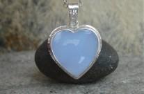 RivendelLove – srebrne serduszko z błękitnym chalcedonem