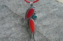 Flos Ruber – wisior srebrny z koralem