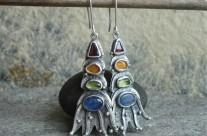 Belegaer – srebrne kolorowe kolczyki