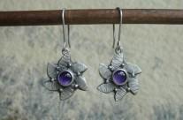 Violette – srebrne kolczyki z ametystami