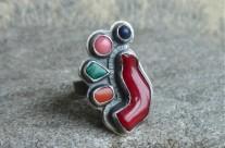 Z Rubieży Śródziemia II – srebrny kolorowy pierścień