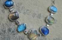 Aglar – srebrna bransoleta z labradorytami