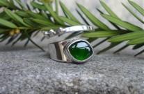Ruban – srebrny pierścionek z chromodiopsydem