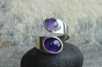 Ruban – srebrny pierścionek z ametystami