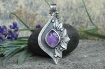 Violet – srebrny wisiorek z ametystem