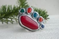 Z Rubieży Śródziemia – srebrny kolorowy pierścień