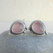 Oiolaire – srebrne sztyfty z kwarcem różowym