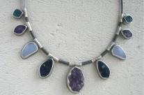 Haletha – srebrny naszyjnik z kamieniami