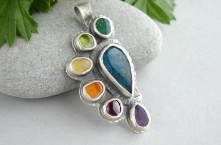 Cuivë – srebrny kolorowy wisior