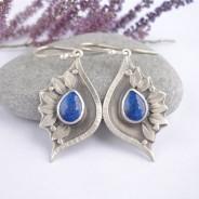Eleden – srebrne kolczyki z lapis lazuli