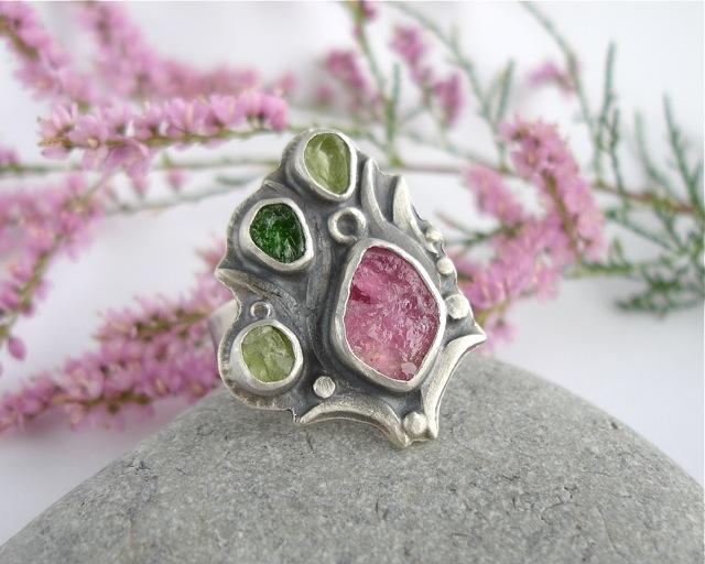 Princessina – srebrny pierścień z turmalinem