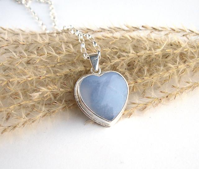 RivendelLove – srebrny wisiorek z chalcedonem
