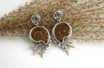 Paleo – kolczyki srebrne z amonitami
