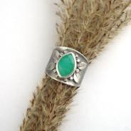 Loth – srebrny pierścień z chryzoprazem