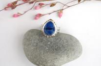 Lazurowa droga – pierścionek srebrny z lapisem lazuli