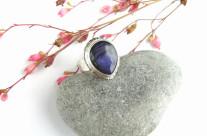 Riana – srebrny pierścionek z labradorytem