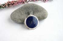 Niebo nocą … srebrny wisiorek z lapis lazuli